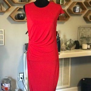 NWT Rachel Rachel Roy Asymmetric Side Drape Dress